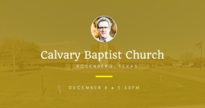 Dallas Holm at Calvary Baptist Church in Rosenberg, TX