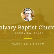 Dallas Holm at Calvary Baptist Church in Longview, TX